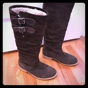 Women's suede Emu riding boots
